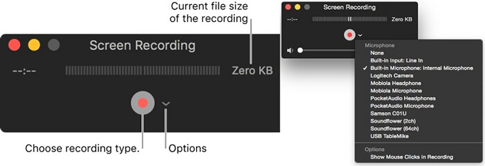 Quicktime Screen Recording Settings