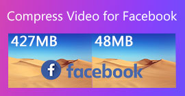 Komprimer video for Facebook