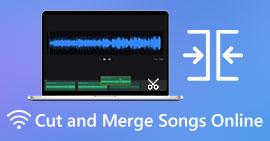 Klipp og slå sammen sanger på nettet
