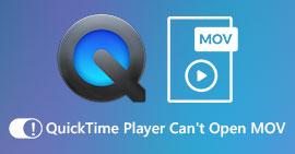 QuickTime nie może otworzyć plików MOV