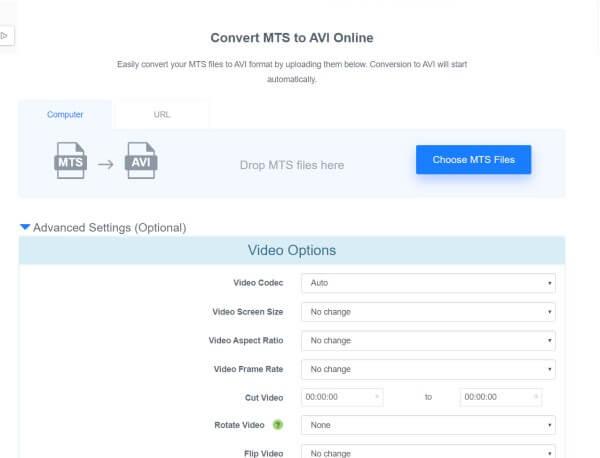 convert mts to avi online free
