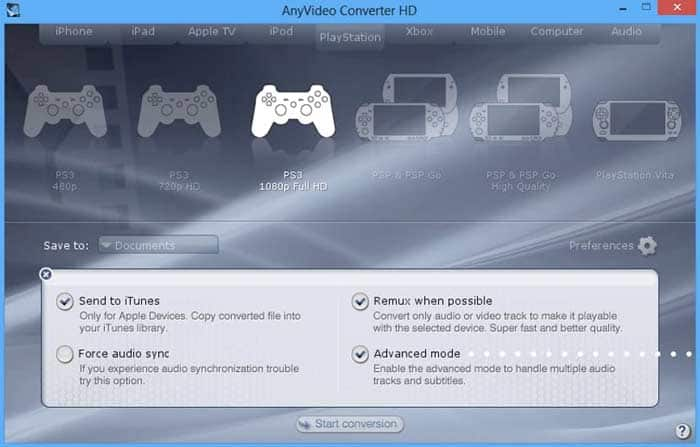 Anyvideoc Converter HD